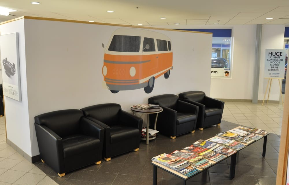Sit back and relax! At Lindsay Volkswagen of Sterling in VA, you can rest easy as you wait for your vehicle to get serviced an oil change, battery replacement, or any other number of the other services we offer!